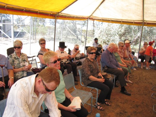 Some of the crowd attending the Taplan Centenary Celebrations in Oct 2013