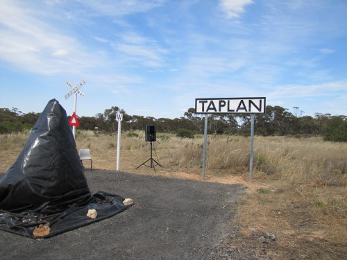 Taplan Railway Station sign