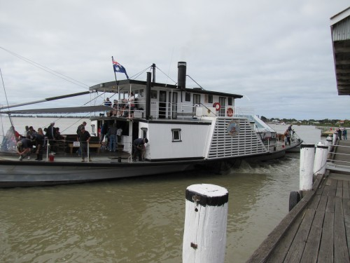 Oscar W at Port Goolwa