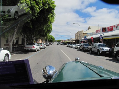 Cruising the streets of Goolwa in a 1928 Model A Ford