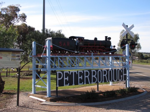 Model of a train at Peterborough