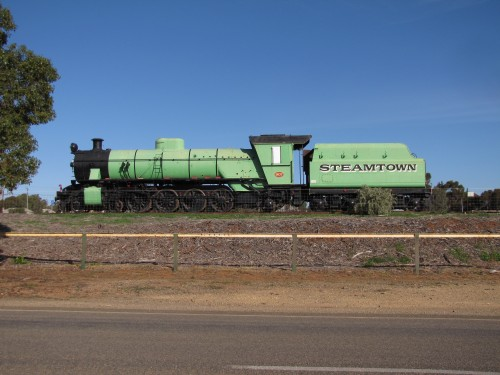 Old steam train on display at Peterborough, South Australia