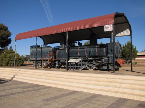 Locomotive in the main street of Peterborough, South Australia