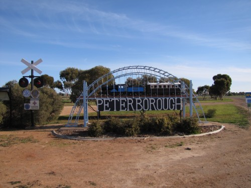 Model train at the eastern entrance to Peterborough, South Australia