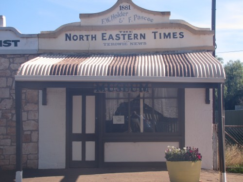 The North Eastern Times newspaper building in Terowie