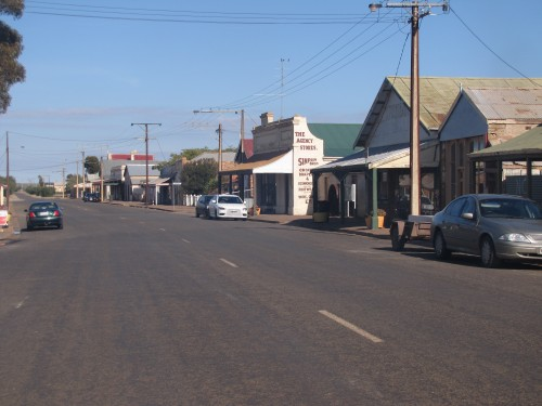 Main street of the mid-north town of Terowie