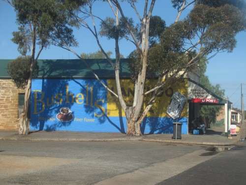 Advertising on the side of the local store in Terowie