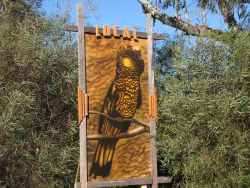 Art work at Laratinga Wetlands