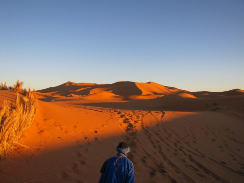 "Off into the ""unknown"" parts of the Sahara"