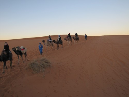 Camel ride, Christmas Eve in the Sahara