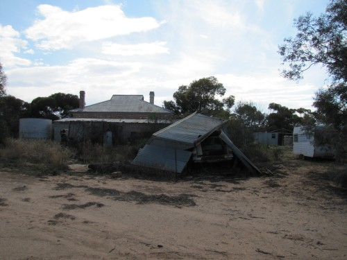 Ruins of the house where I grew up in Taplan South Australia