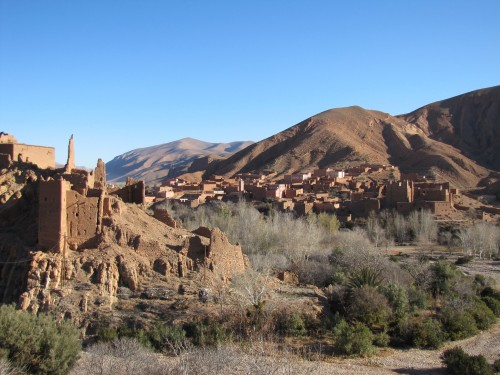 A scene along the Dades Valley road.