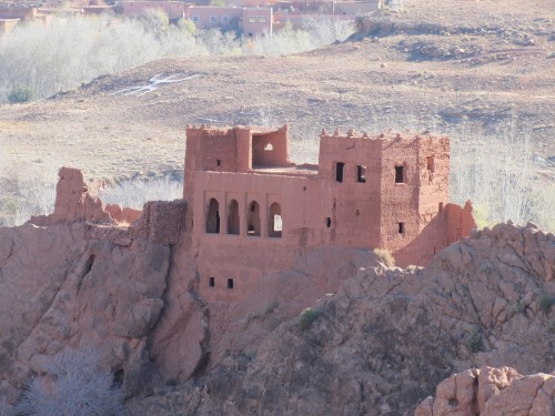 Old kasbah architectural building