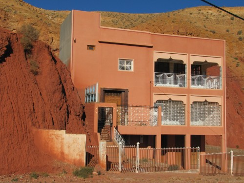 Modern building in the Dades Valley